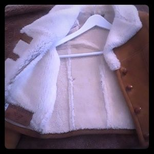 100% Suede Leather Shearling Lined jacket